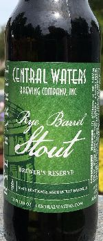 Brewer's Reserve Rye Barrel Stout - Central Waters Brewing Company