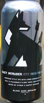 Saucy Intruder Rye IPA - Black Acre Brewing Company